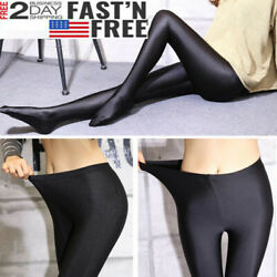Plus Size Womens Shiny Glossy Oil Shimmer Tights Stockings Pantyhose Hosiery