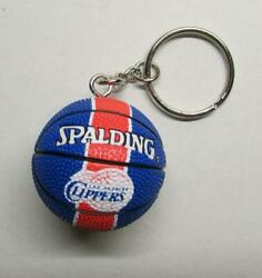 NBA Basketball Los Angeles CLIPPERS Spalding Ball KEY CHAIN Ring Keychain NEW $24.99