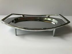 Vintage Kromex  Stainless Steel Tray with Handle and Stand