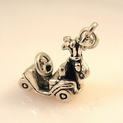 .925 Sterling Silver 3-D Heavy GOLF CART CHARM Pendant NEW Course Club 925 SP39