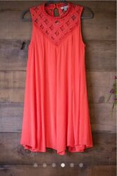 She & Sky Dress Tomato Color New With Tags Different Sizes FREE SHIPPING!