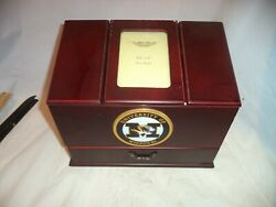 WOODEN JEWELRY  TRINKET BOX WITH 2 SECTIONAL SHELVES Univ of Missouri