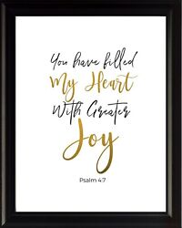 Psalm 4:7 You Have Poster Print Picture or Framed Wall Art Christian Gifts $14.99