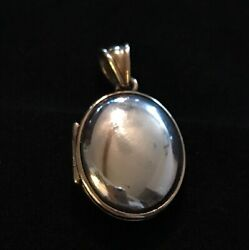 James Avery 14K Gold & Sterling Silver Oval Locket Pendant Retails $375