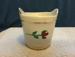 Holley Ross 24K Gold Painted ceramic Pail LaANNA PA. $13.95