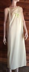 VINTAGE SEARS SIZE LARGE 38 40 GREEN NIGHTGOWN #8252 $24.95
