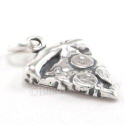 SLICE of PIZZA Charm Pendant PEPPERONI Food Sterling Silver 925 $9.99