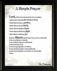 St. Francis Prayer Inspirational Poster Print Picture or Framed Wall Art $14.99