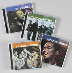Time Life Legends of Soul CDs Lot of 4 Jerry Butler Temptations Luther Smokey