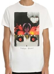 Tokyo Ghoul Scary Eyes White Men's T-Shirt New $12.10