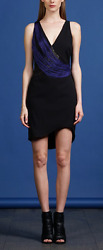 NEW WITH TAGS BLACK COCKTAIL ADELYN RAE SHEATH V NECK DRESS