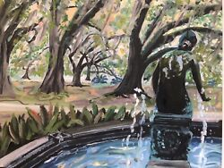 Kristi Jones  OwenButler Fountain Print South Louisiana new orleans City Park