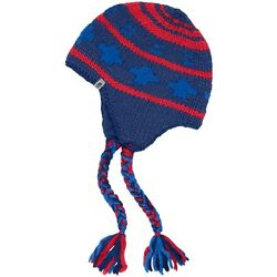 The North Face Boulder Peruvian Beanie Estate BlueRed Men's One Size Fits Most $45.00