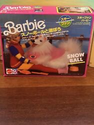 Barbie Snow Ball Dog—Mattel—Foreign Marketing—Vintage 1980s—NRFB