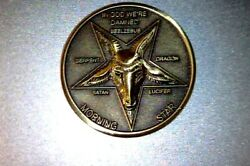 Lucifer Morning Star Fast delivery in USA 1 1 4quot; Solid Brass 3D Coin 31.75MM $13.70