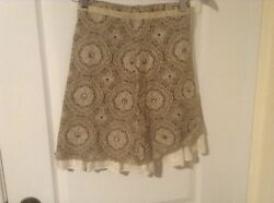 Juniors Limited Too brown and ivory fully lined skirt JUNIORS SIZE 7 EUC $7.99