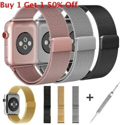 For Apple Watch Series 5 4 40mm 44mm Magnetic Milanese Loop Band Stainless Steel