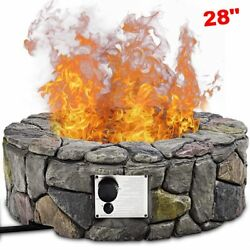 Propane Gas Fire Pit Kit Fireplace Ring Outdoor Patio Heater Burner Bowl Cover