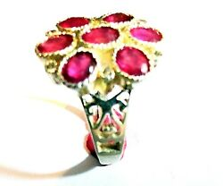 New 925 Sterling Silver  Fine Quality Natural Ruby Women Exclusive Ring