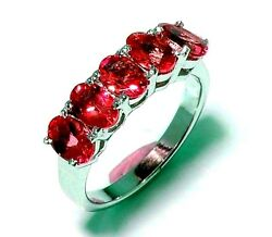 New  925 Sterling Silver Good Quality Oval Shape Natural Ruby Exclusive Ring