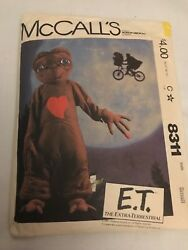 VINTAGE McCALLS E T Extra-Terrestrial COSTUME Sewing Pattern CUT CHILD SMALL 6-8