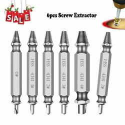 6 PCS Speed Out Screw Extractor Drill Bits Tools Set Broken Bolt Remover USA $6.71