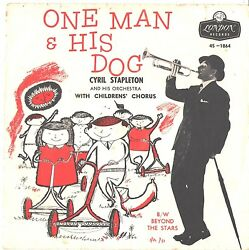 CYRIL STAPLETON--PICTURE SLEEVE + 45---(ONE MAN & HIS DOG)--PS--PIC--SLV