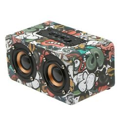 Wooden Wireless Bluetooth Speaker Portable Outdoor Stereo Heavy Bass Subwoofer