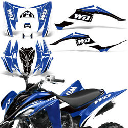Yamaha Raptor 350 Decal Graphic Kit Quad ATV Wrap Deco Racing Parts 04-14 WD BLU