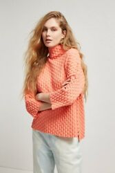 NEW FRENCH CONNECTION Mona Mozart Knit Oversized-BLUE OR CORAL - LARGE $50.00