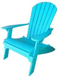 Phat Tommy Recycled Poly Resin Folding Adirondack Chair [ID 37439]