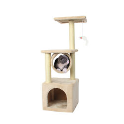 36#x27;#x27; Cat Tree Scratching Tower Post Condo Pet House Scratcher Furniture Bed New $28.99