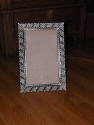 Vintage Frame Will Stand or Lay for Dresser Tray GOLD WHITE (NEEDS MIRROR)  15
