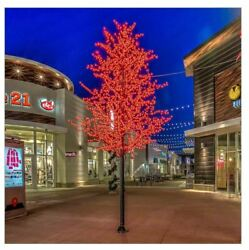 14FT Tall Red Cherry Blossom LED Indoor Outdoor Lighted Tree Commercial Quality $1,999.99