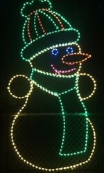 LG Commercial Winter Snowman Christmas LED Lighted Decoration Steel Wireframe $1,899.99