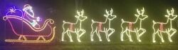 Commercial Santa Claus Sleigh Reindeer Outdoor LED Lighted Decoration Wireframe $3,699.99