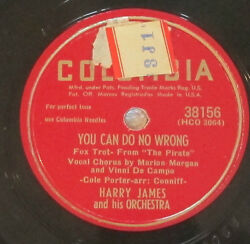 Columbia 38156 78 RPM record Harry James Love Of My Life  You Can Do No Wrong