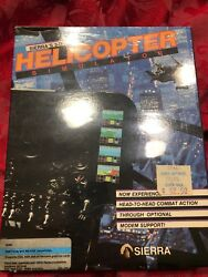 3 d Helicopter Simulator Sierra 1987 IBM PS 2 MS DOS Software PC Big Box $125.00