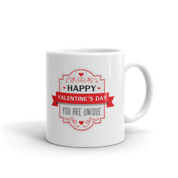 Happy Valentine#x27;s Day You are Unique Coffee Tea Ceramic Mug Office Work Cup Gift $12.99