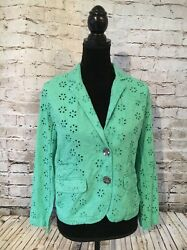 Life Style Women Teal Jacket Blazor Stein Mart. Size: Small. New With Tags $25.99