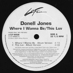 Donell Jones – Where I Wanna Be  This Luv  .  Format: Vinyl 12