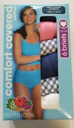 Fruit of the Loom Women's 6 Pack Briefs Size 10 Comfort Covered Choose Color 3X $13.49
