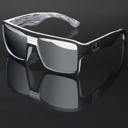 Oversized Square Thick Bold Frame Men Women Sports Mirrored Sunglasses Flat Top $8.99
