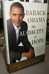 Barak Obama  Audacity of Hope Thoughts On Reclaiming the American Dream 1st ed