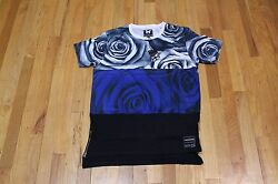 GOOD FOR NOTHING CRYPTIC ROSE BLUE BLACK TEE SIZE M NEW