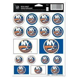 New York Islanders Vinyl Sticker Sheet 17 Decals 5x7 Inches Free Shipping