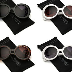 Oversized Circle Round Women Teen Girls Fashion Sunglasses Swirl Baroque Arms