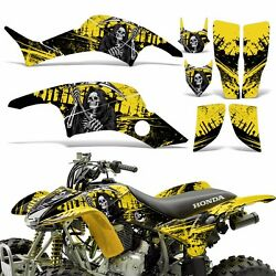 Graphic Kit Honda TRX 400ex ATV Quad Decal Sticker Wrap TRX400 EX 99-07 REAP YLW