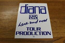 Vintage OTTO Backstage Concert Door Sign Diana Ross Here & Now Tour Production