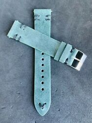 QR 20mm Green Handmade Double Vintage Leather watch band strap Quick Release $17.99